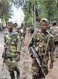 Ribelli dell'esercito di rivoluzione congolese per le strade di Goma, 20 novembre 2012. REUTERS/James Akena