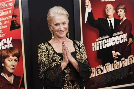 Actress Helen Mirren attends the film premiere of ''Hitchcock'' in New York November 18, 2012. REUTERS/Andrew Kelly