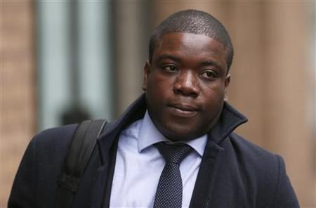 Former UBS trader Kweko Adoboli arrives at Southwark Crown Court in London, November 19, 2012. REUTERS/Stefan Wermuth (BRITAIN - Tags: BUSINESS CRIME LAW)