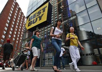 Best Buy results, same-store sales weak; shares tumble