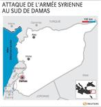 <p>ATTAQUE DE L'ARMÉE SYRIENNE AU SUD DE DAMAS</p>