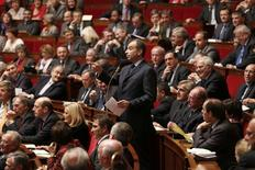 France's UMP political party head and deputy Jean-Francois Cope speaks during the questions to the government session at the National Assembly in Paris November 20, 2012. REUTERS/Charles Platiau