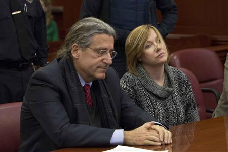Anna Gristina, the woman dubbed the ''Manhattan Madam'', sits in the Manhattan Supreme Court for sentencing with her lawyer Norman Pattis (L) in New York November 20, 2012. REUTERS/Andrew Kelly