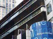 Foto da sede mundial do Morgan Stanley em Nova York, nos EUA. Os bancos da Europa passaram pela fase mais difícil de sua restruturação, mas ainda enfrentam um período de enfraquecimento de suas carteiras de crédito, o que será um desafio por vários anos, afirmou a instituição financeira. 22/06/2012 REUTERS/Brendan McDermid