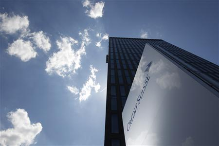 File photo of the logo of a Credit Suisse building in Zurich, May 4, 2012. REUTERS/Christian Hartmann