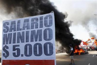 Argentina's Fernandez faces her first general strike