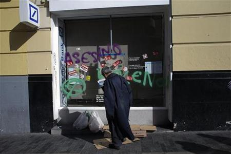 REUTERS/Susana Vera (SPAIN - Tags: CIVIL UNREST BUSINESS EMPLOYMENT POLITICS)