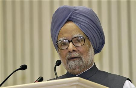 Indian Prime Minister Manmohan Singh speaks during the inauguration ceremony of International Academic Conference 2012, themed Economic Growth and Changes of Corporate Environment in Asia, in New Delhi September 22, 2012. REUTERS/B Mathur