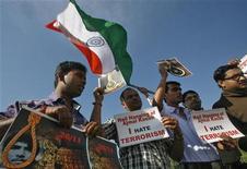 manifestazioni in India a favore dell'uccisione di Mohammad Ajmal Kasab. REUTERS/Jayanta Dey