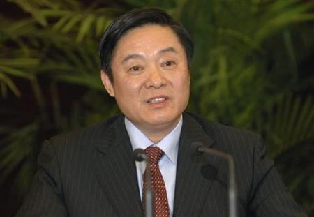 Liu Qibao, secretary of the Sichuan Provincial Committee of the Communist Party of China (CPC), attends a provincial leaders meeting in Chengdu, Sichuan province, December 1, 2007. REUTERS/China Daily/Files
