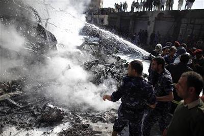 Yemeni plane crashes near Sanaa airport, killing 10