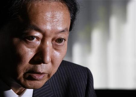 Japan's former Prime Minister Yukio Hatoyama speaks during an interview with Reuters at his office in Tokyo August 21, 2012. REUTERS/Yuriko Nakao