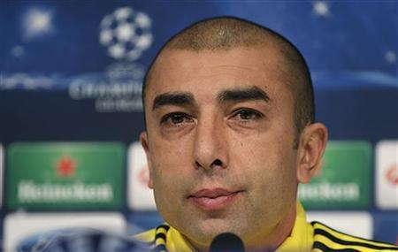 Chelsea's coach Roberto Di Matteo attends a news conference at the Juventus stadium in Turin November 19, 2012. REUTERS/Tony Gentile
