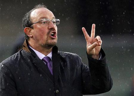 Inter Milan coach Rafael Benitez gestures during their Italian Serie A soccer match against Chievo Verona at the Marc'Antonio Bentegodi stadium in Verona, in this November 21, 2010 file photo. REUTERS/Giampiero Sposito/Files
