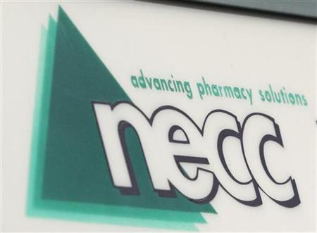 A sign for pharmaceutical compounding company New England Compounding Center (NECC), a producer of the steroid methylprednisolone acetate, is seen in Framingham, Massachusetts October 8, 2012. REUTERS/Jessica Rinaldi