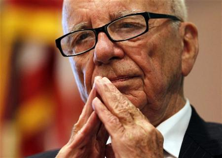 News Corp Chairman and CEO Rupert Murdoch listens to a question at the ''The Economics and Politics of Immigration'' Forum in Boston, Massachusetts August 14, 2012. REUTERS/Jessica Rinaldi