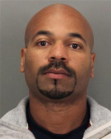 Kariem McFarlin, 35, is shown in this booking photograph released to Reuters August 17, 2012 by the Santa Clara County Sheriff's Department. REUTERS/Santa Clara County Sheriff's Department/Handout/Files