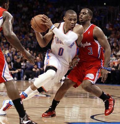 Thunder halts Clippers streak in overtime