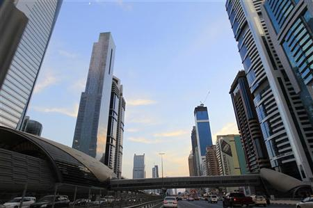 Towers are seen next to a Dubai Metro station on Sheikh Zayed road in Dubai, in this file photo taken November 19, 2012. REUTERS/Jumana El Heloueh
