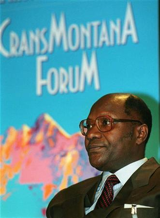 Ivory Coast Prime Minister Daniel Kablan-Duncan attends the plenary session ''The Re-orientation of Africa Towards Global Markets'' at the Crans Montana Forum June 25.