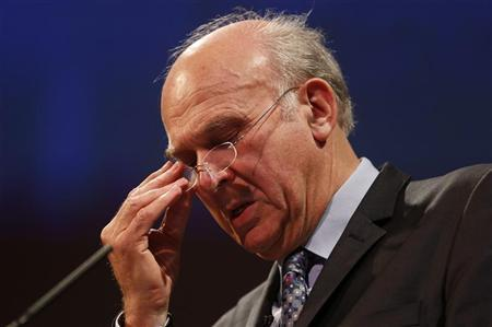 Britain's Business Secretary Vince Cable speaks at the CBI annual conference in London November 19, 2012. REUTERS/Suzanne Plunkett