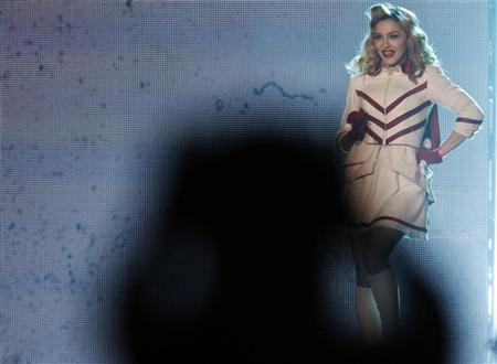 U.S. singer Madonna performs on stage during her MDNA tour at St. Petersburg Sports and Concert Complex, August 9, 2012. REUTERS/Alexander Demianchuk
