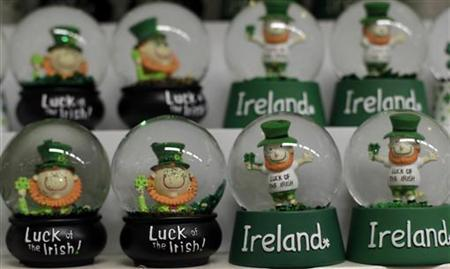 Ornaments are displayed in a gift shop in Dublin as Ireland goes to the polls on the fiscal treaty referendum May 31, 2012. REUTERS/Cathal McNaughton