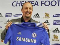 O espanhol Rafael Benítez é apresentado como novo técnico do Chelsea nesta quinta-feira. REUTERS/Luke MacGregor