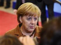 Il cancelliere tedesco Angela Merkel. REUTERS/Eric Vidal