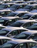 New Volkswagen cars are seen in a vehicle parking space in the port of Koper November 16, 2012. REUTERS/Srdjan Zivulovic (SLOVENIA - Tags: TRANSPORT)