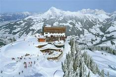 A view of the ski fields in Kitzbuehel, Austria in this undated handout photo. REUTERS/Austrian Tourist Office/Handout