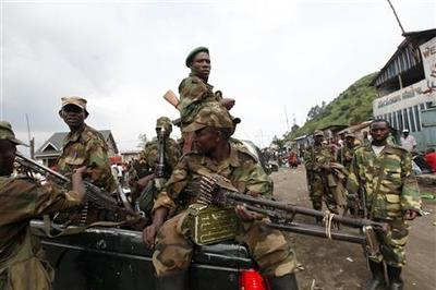 Congo rebels push on after repelling counter-attack