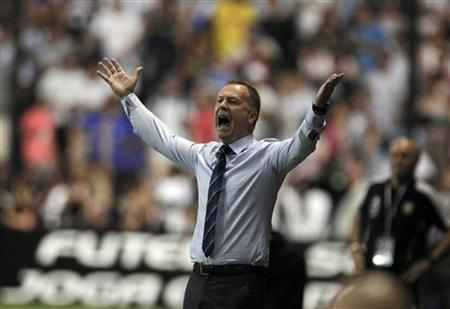 Brazil's national soccer team head coach Mano Menezes gestures during their Clasico de Las Americas international friendly soccer match against Argentina in Buenos Aires November 21, 2012. REUTERS/Enrique Marcarian