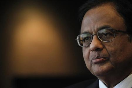 India's Finance Minister P. Chidambaram attends an interview with Reuters at a hotel during his visit for the G20 meeting in Mexico City November 4, 2012. REUTERS/Edgard Garrido