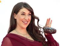 "Actress Mayim Bialik, of the comedy series ""The Big Bang Theory,"" arrives at the 64th Primetime Emmy Awards in Los Angeles September 23, 2012. REUTERS/Mario Anzuoni"