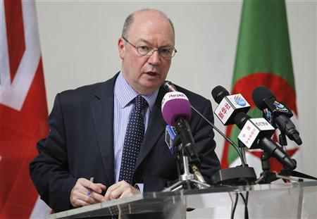 Alistair Burt, British Minister for the Middle East and South Asia, speaks during a news conference in Algiers June 24, 2012. REUTERS/Louafi Larbi