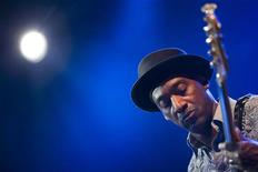 U.S. jazz bassist Marcus Miller performs onstage during the tribute to Miles Davis evening at the 45th Montreux Jazz Festival in Montreux July 13, 2011. REUTERS/Valentin Flauraud