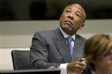 Former Liberian President Charles Taylor attends his trial at the Special Court for Sierra Leone based in Leidschendam, outside The Hague, May 16, 2012. REUTERS/Evert-Jan Daniels/Pool