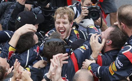 Vettel is F1's youngest triple champion