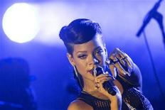 Singer Rihanna performs during a concert as part of her 777 tour in Berlin, November 18, 2012. REUTERS/Thomas Peter