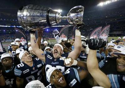 Argonauts rout Stampeders in CFL's 100th Grey Cup...