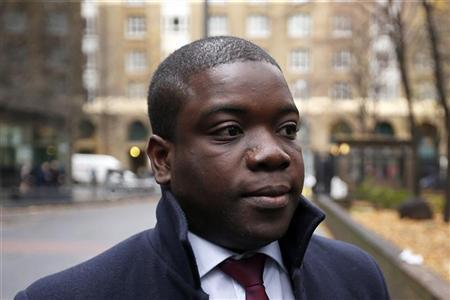 Former UBS trader Kweko Adoboli arrives at Southwark Crown Court in London, November 20, 2012. REUTERS/Stefan Wermuth