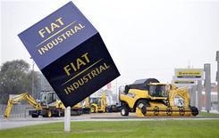 Macchine della Fiat industrial al Fiat Industrial Village a Torino, 31 ottobre 2012. REUTERS/Giorgio Perottino