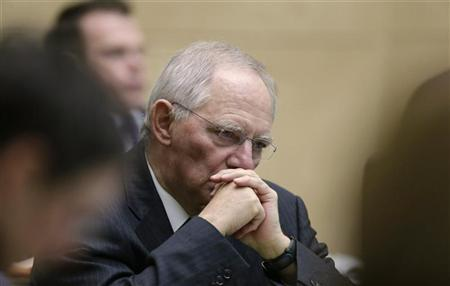 Germany's Finance Minister Wolfgang Schaeuble attends a session of the German upper house of Parliament Bundesrat in Berlin November 23, 2012. REUTERS/Tobias Schwarz