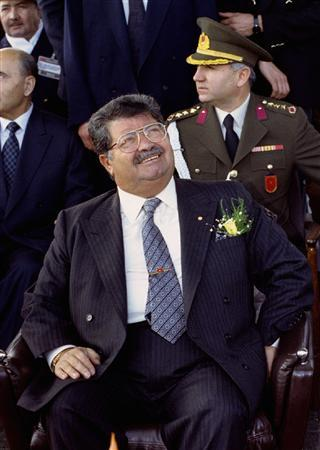 Turkish President Turgut Ozal is seen in this January 1993 file photo. An autopsy on the exhumed body of late President Ozal, who led Turkey out of military rule in the 1980s, has revealed evidence of poisoning, a newspaper reported on November 26, 2012. REUTERS/Fatih Saribas/Files