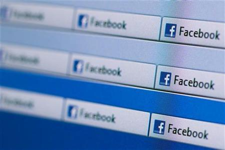 Facebook website pages opened in an internet browser is seen in this photo illustration taken in Lavigny May 16, 2012. REUTERS/Valentin Flauraud/Files