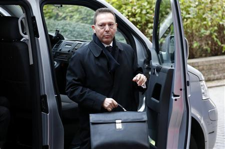 Greece's Finance Minister Yannis Stournaras arrives at a euro zone finance ministers meeting in Brussels November 26, 2012. REUTERS/Francois Lenoir