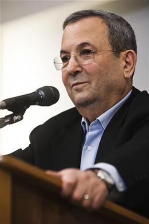 Israel's Defence Minister Ehud Barak pauses during a news conference in Tel Aviv November 26, 2012. Barak, a main architect of Israel's policy toward Iran's nuclear programme, said in a surprise announcement on Monday that he was quitting politics and would not run in the January 22 national election. REUTERS/Nir Elias (ISRAEL - Tags: POLITICS MILITARY)