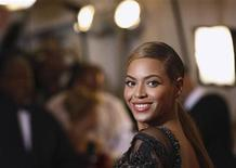 "Singer Beyonce Knowles arrives at the Metropolitan Museum of Art Costume Institute Benefit celebrating the opening of ""Schiaparelli and Prada: Impossible Conversations"" exhibition in New York, May 7, 2012. REUTERS/Lucas Jackson"