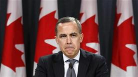 Reino Unido nombró el lunes al jefe del banco central de Canadá, Mark Carney, como nuevo gobernador del Banco de Inglaterra (BoE, por sus siglas en inglés), con lo que sorprendió a muchos al designar a un extranjero en el cargo. En la image, Mark Carney en una rueda de prensa en Otawa, el 26 de noviembre de 2012. REUTERS/Chris Wattie